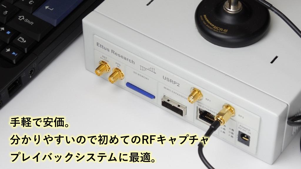 「USRP Nシリーズ」 RFレコーダー・キャプチャ&プレイバックシステム